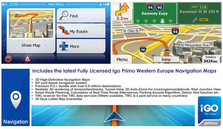 Boxer Navigation/Bluetooth/DVD/iPod/GPS/Touch Screen/USB
