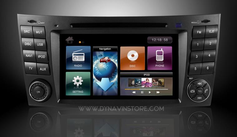 dynavin mercedes w211 e class comand style navigation ebay. Black Bedroom Furniture Sets. Home Design Ideas