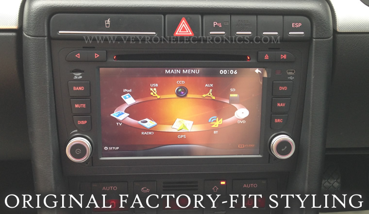 audi a4 sat nav free sygic maps gps dvd cd ipod. Black Bedroom Furniture Sets. Home Design Ideas